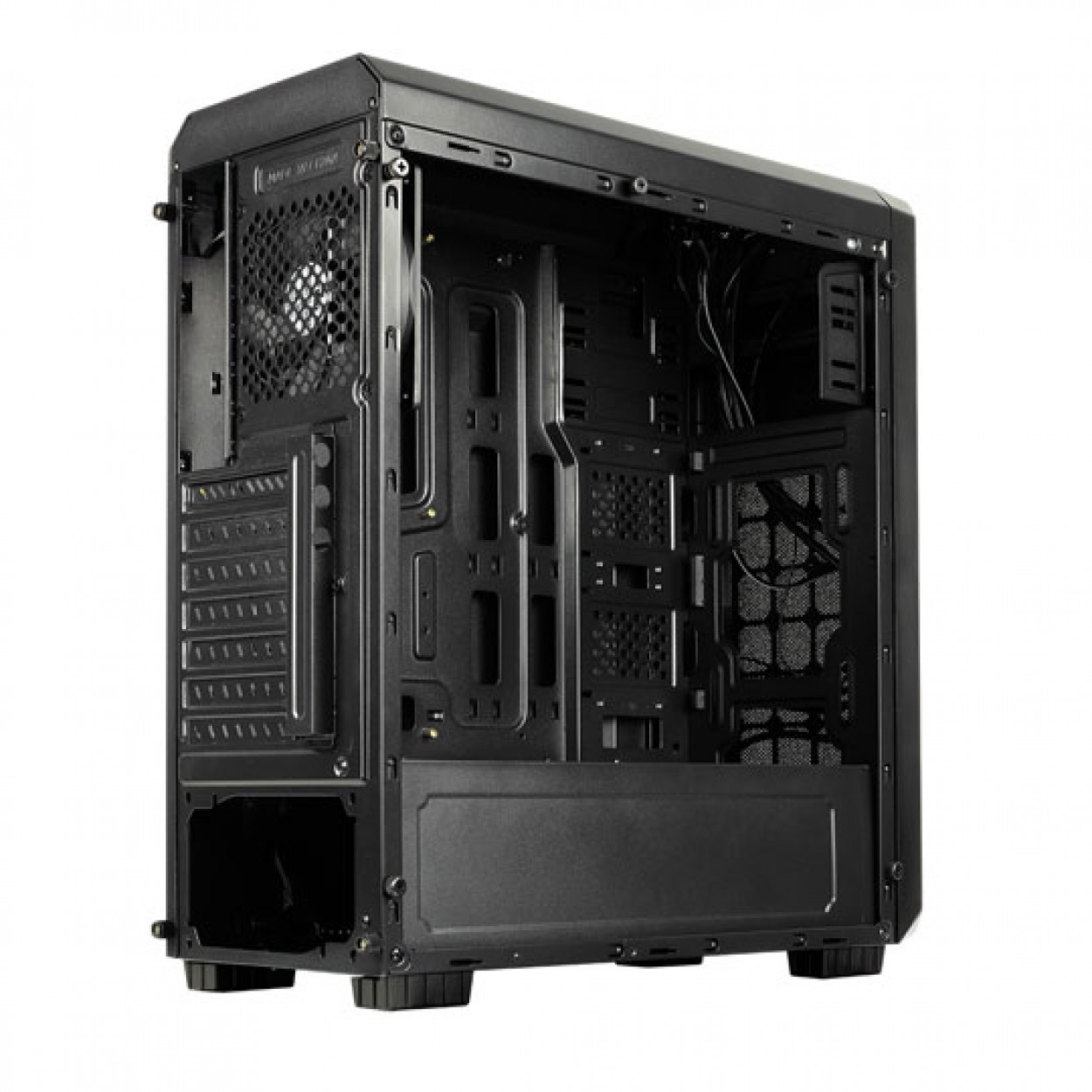 Aero cool case 300 black faw full acrylic window _300