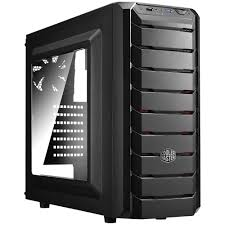 Cooler master case CMP 500 with power 600 watt and x2 fan red _cmp-500-1rwra60