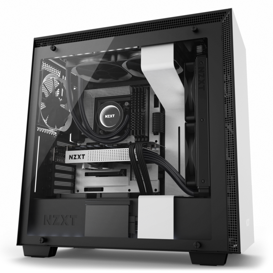 Buy Cases Online At Low Price In Lebanon Microcity Hp Msi Lenovo Fan Casing Eclipse 12cm Nzxt Case Mid Tower H700 White And Black Color Ca H700w Wb