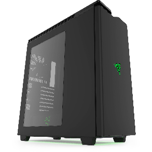 case nzxt h440 razer steel mid tower case usb 3.0 win _ca-h442w-ra