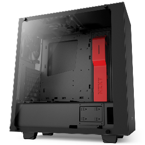 case nzxt s340 razer elite blk red glass atx mid tower _cas340wb4