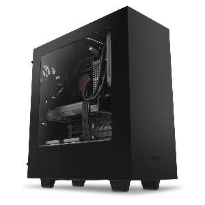 Nzxt case s340 mid tower black and red _ca-s340mb-gr
