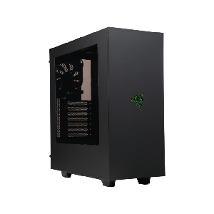 case nzxt s340 razer matte black steel plastic tower case _ca-s340w-ra