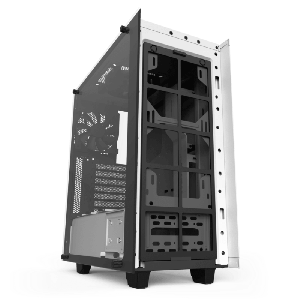 case nzxt s340 elite white glass atx mid  tower case _ca-s340w-w2