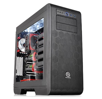 Thermaltake case core v51 mid tower transparent window without pow _ca1c60m1wn00
