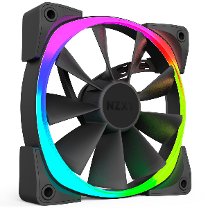 Nzxt fan AER rgb and hue controller with x2  fan 14cm rgb led _rf-ar140-c1