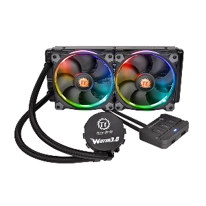Thermaltake cooler fan riing 240 liquid water 3.0 rgb _cl-w107-pl12sw-a
