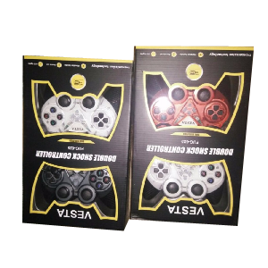 Vesta double shock controller vibration usb red and white _fug-625