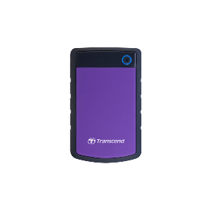 Transcend External hdd 1 terra shock resistant design usb3.1 purple _ts1tsj25h3p