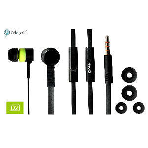 Celebrat earphone stereo d2 magic month with mic white and black color _d2