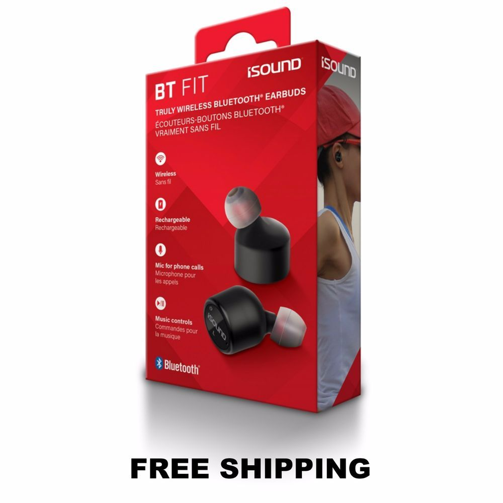 Isound earphone wireless bt fit blutooth with mic _5640