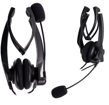 A4tech headset ichat hs-10 with microphone foldaway
