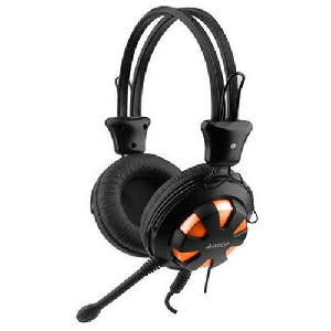 A4tech stereo headset HS-28i with microphone and 1 audio input