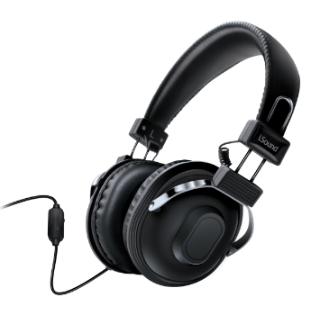 Isound headphone hm-260 with mic and volume balck _5521