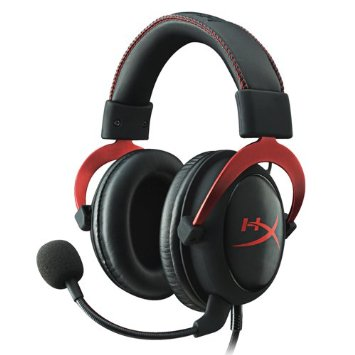 hyperx cloud II pro gaming headset with  mic 7.1 surround RED_khx-hscp-rd