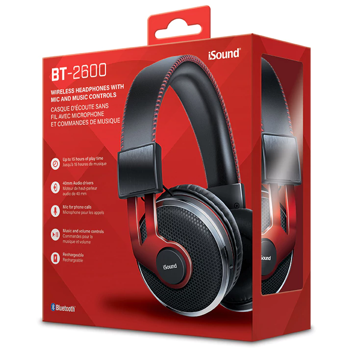Isound headphone bt-2600 wireless bluetooth with mic rechargeable _5620