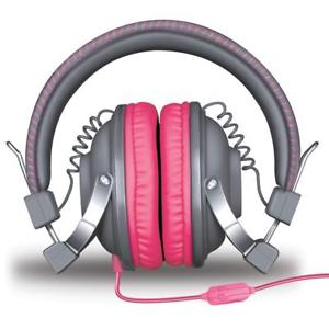 Isound headphone hm-260 dynamic stereo with mic pink _5520