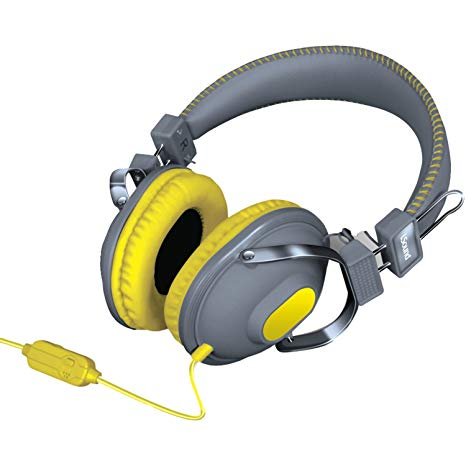Isound headphone hm-260 bold and crisp sound with mic yellow _5523