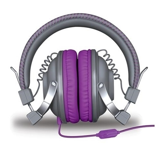 Isound headphone hm-260 bold and crisp sound with mic purple _5524