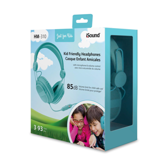 Isound headphone hm-310 for kids with mic and volume controls _5536