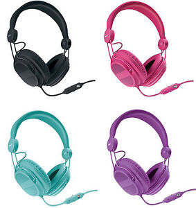 Isound headphone hm-310 kid friendly purple color _5540