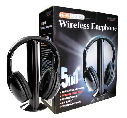 wireless headphone MH2001 5 in 1 with fm radio