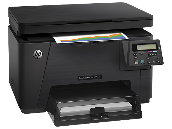 3in1- print- scan- copy- Speed 16ppm Black/ 4ppm Color- Print Res 2400dpi- scan Res 1200dpi- 600MHz processor- 128MB Memory- Flatbed- USB2.0- Network- E-Print- Airprint- Duty Cycle 20-000 pages  Supplies : CF350A / CF351A / CF352A / CF353A