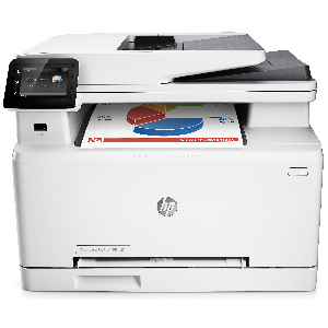 3in1- print- scan- copy- Speed 18ppm Black/ 19ppm Color- Print Res 600dpi- scan Res 1200dpi- 800MHz processor- 256MB Memory- Flatbed- ADF- USB2.0- Network- E-Print- Airprint- Duty Cycle 30-000 pages  Supplies : CF400A / CF401A / CF402A / CF403A
