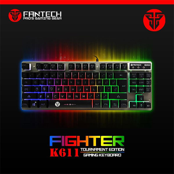 Fantech keyboard gaming fighter k611 tournament edition metal rbg _k611