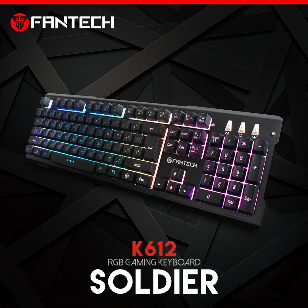 Fantech keyboard gaming k612 soldier rgb 9 mode _k612