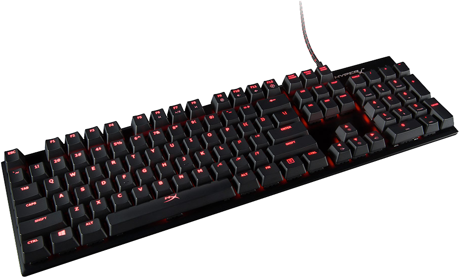 Hyperx keyboard alloy fps mechanical gaming mx cherry red _hx-kb1rd1-na/a2