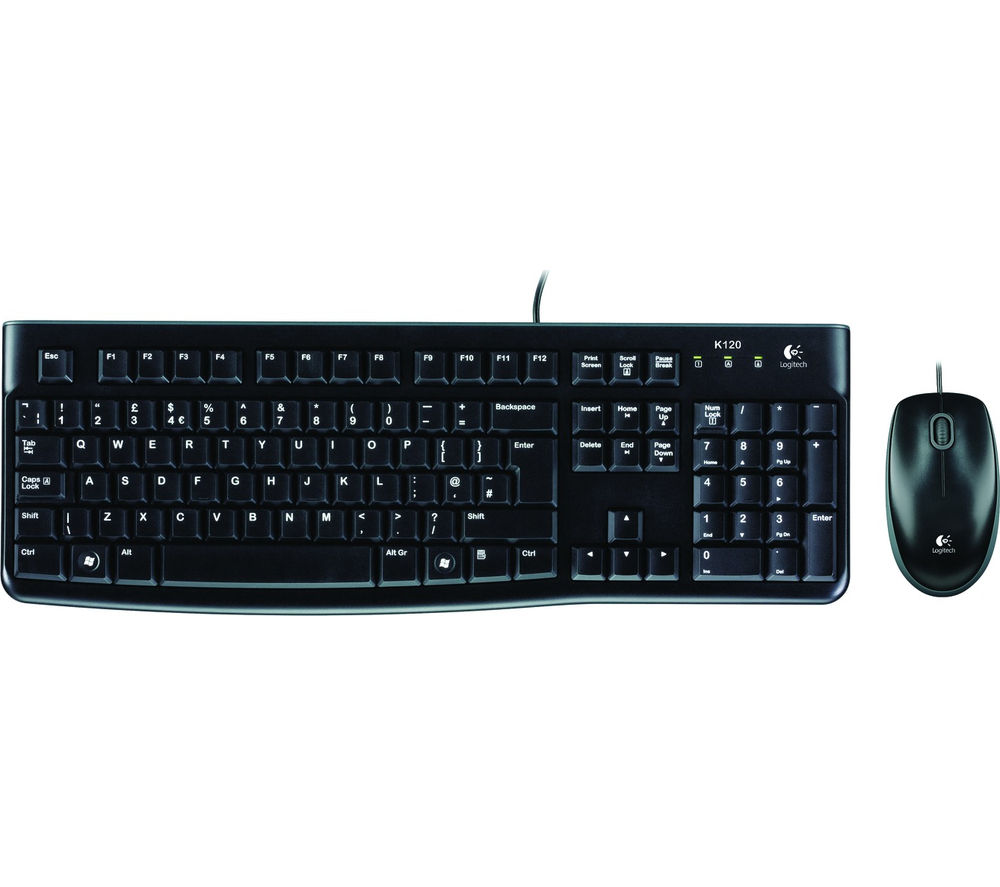 Logitech keyboard mouse mk120 usb _920-002546