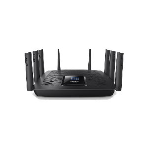 EA9500 Max-Stream™ AC5400 MU-MIMO Gigabit Router  • TRI-BAND WI-FI TECHNOLOGY  • Wi-Fi speeds up to 5.3 Gbps*  • Next-Gen AC Wi-Fi  MU-MIMO technology  • 8 Gigabit ports • 8 external antennas for expanded range   • Seamless Roaming   • 4x4 AC Four streams of data for stronger  faster performance when gaming and streaming  • 1.4 GHz DUAL-CORE CENTRAL PROCESSING UNIT (CPU)