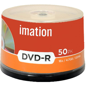 Imation Blank Dvd Recordable +R 4.7GB 120Min 16X box of 50 Pieces