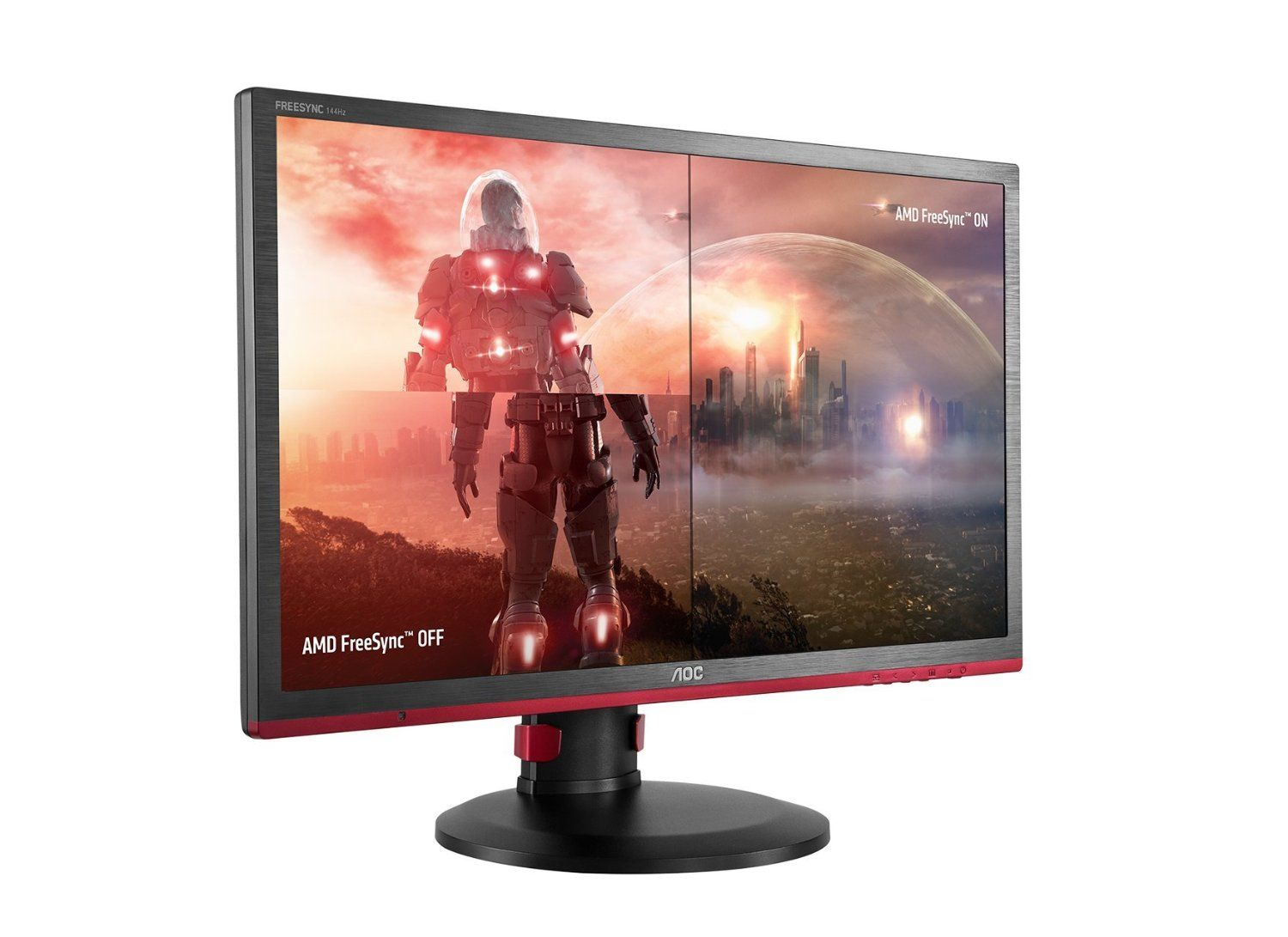 Aoc lcd 24 inch gaming full hd 144hz freesync vga dvi hdmi dp _g2460pf