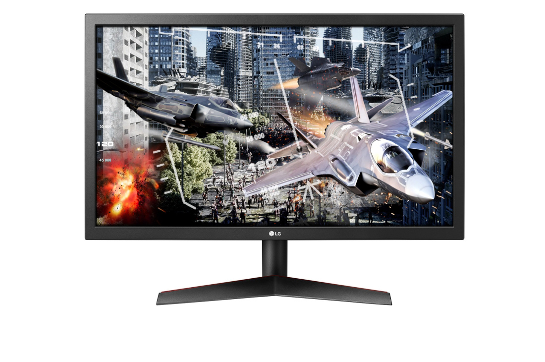 Lg led 24 inch gaming 1ms 144hs full hd hdmi dp _24gl600f-b
