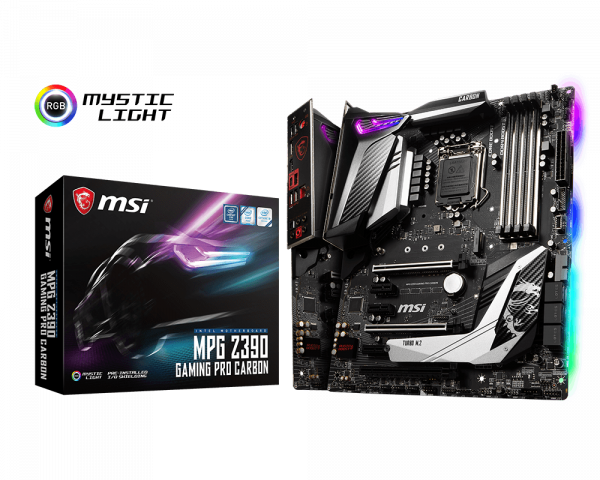 Msi motherboard MPG Z390 gaming pro carbon lga 1151 hdmi dp _911-7b17-012
