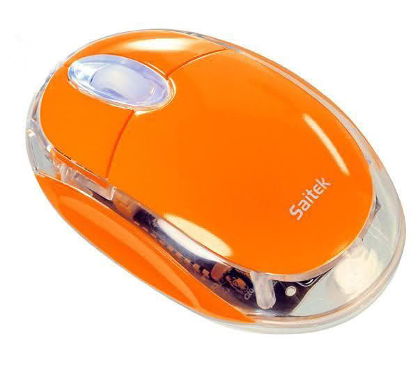 saitek wireless Mouse  usb orabge_pm550