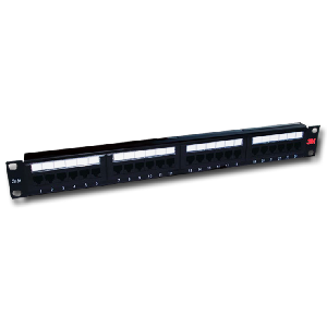 3m Patch Panel 24 ports keystone k6 jacks