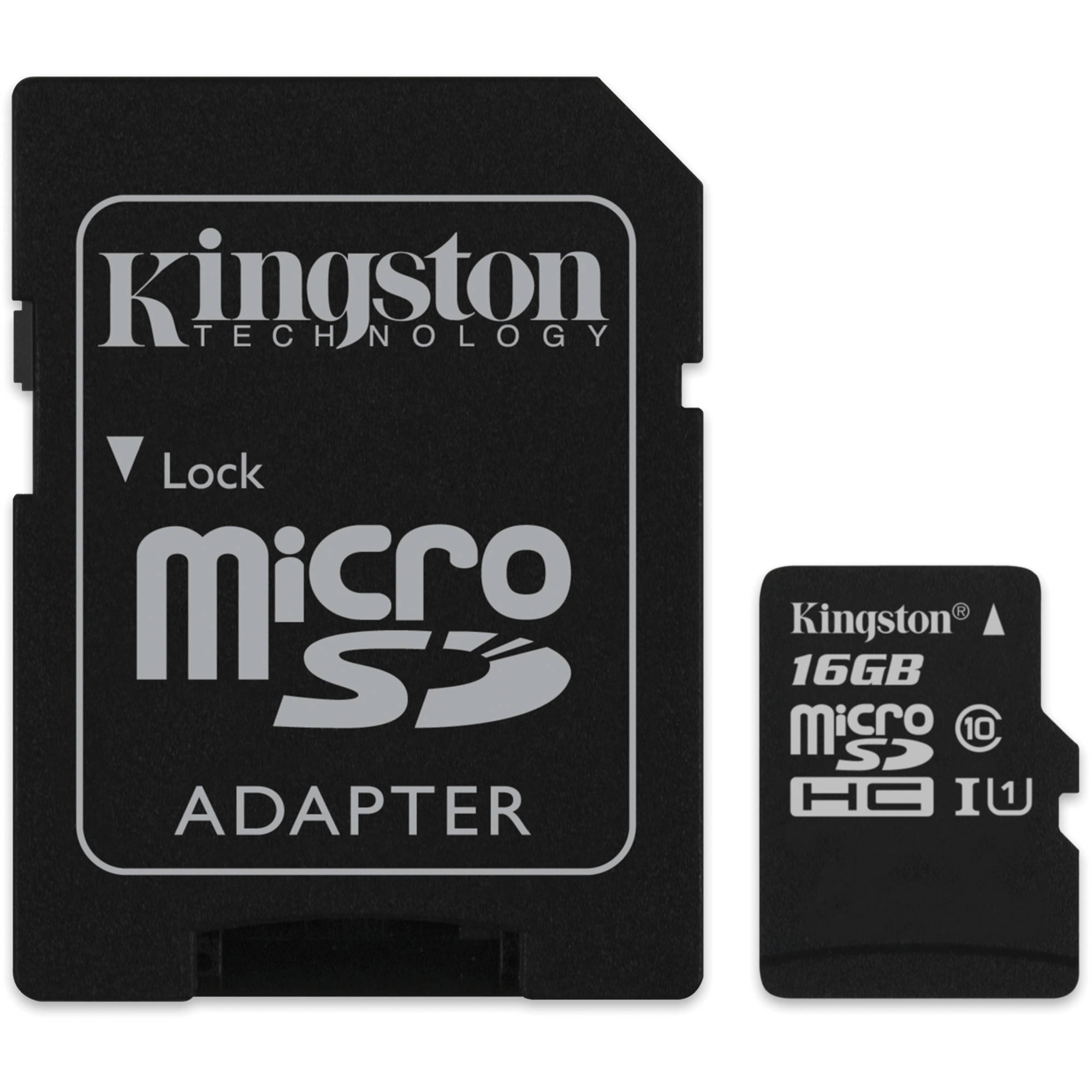 Kingston micro sd hc Memory Card 16gb class 10 with adapter sd