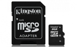 Kingston micro sd Memory Card 8gb with adapter sd class 10 _sdc108gb