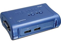 Trendnet switch 2 ports usb _tk207k