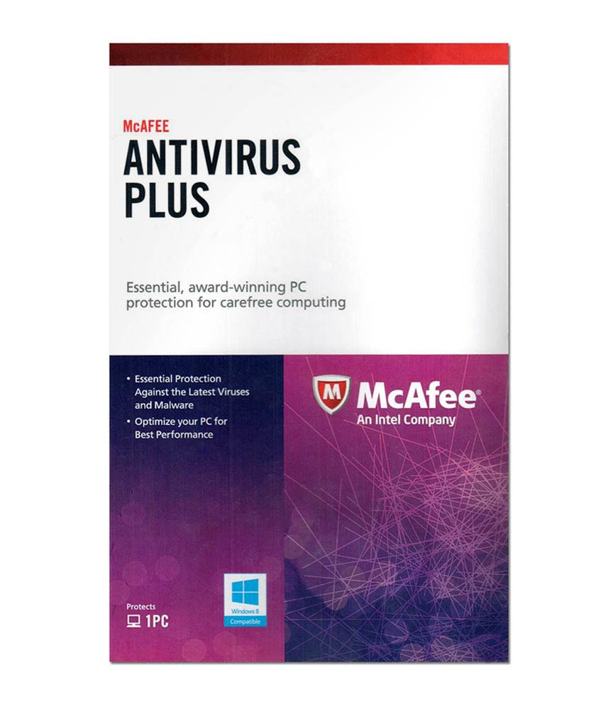 mcafee antivirus plus for 1 pc