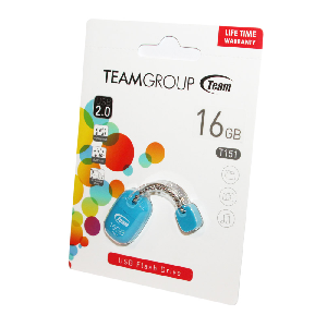 Team usb 2.0 flash drive 16gb blue t151 _tt15116gl01