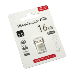 Team usb 2.0 flash drive 16gb white c161 _tc16116gw01