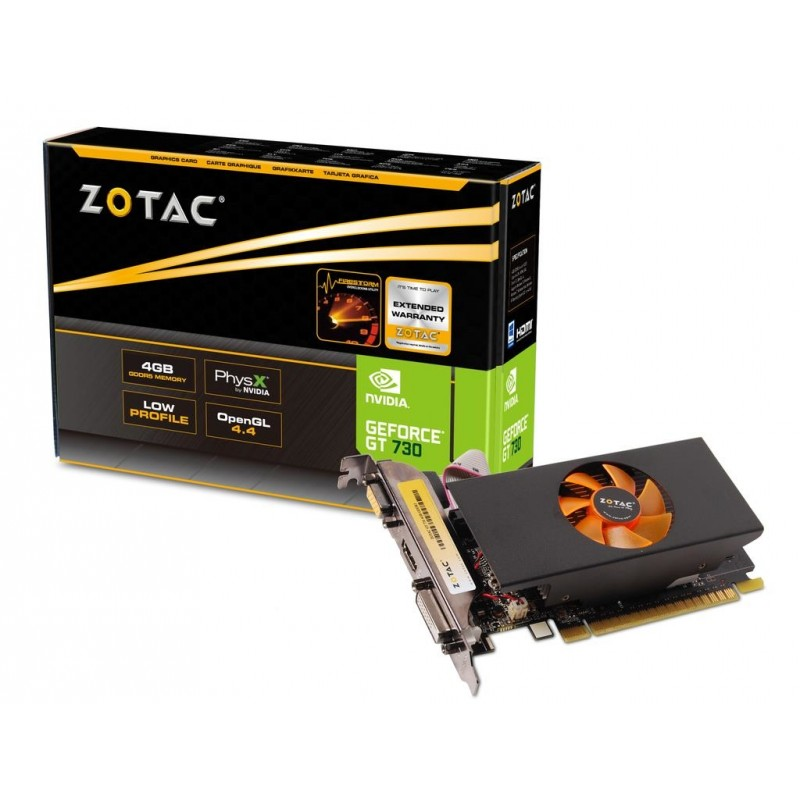 zotac geforce gt730 4gb ddr3 low profile dvi vga hdmi _9288-9n308-a00z8