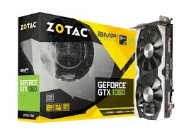 Zotac Geforce GTX1060 6gb amp gddr5 pcie hdmi display port dvi  _288-1n438-001z8