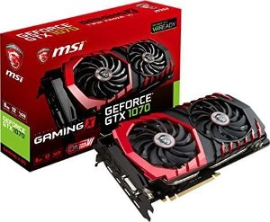 Msi geforce gtx 1070 gaming x 8gb ddr5 hdmi dvi dp  _912-v330-257